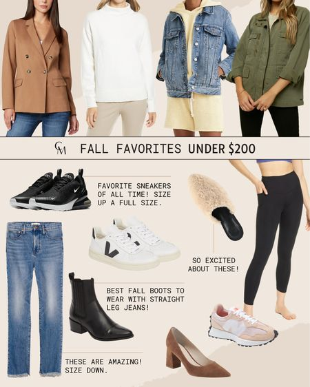 Fall favorites under $200. Fall style.    #LTKSeasonal #LTKshoecrush #LTKsalealert