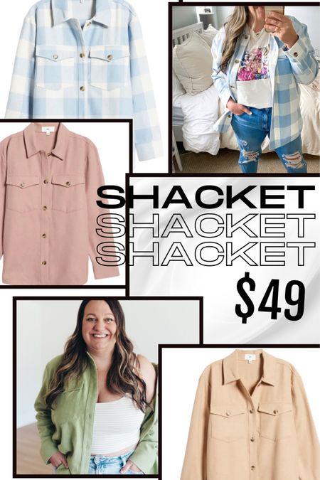 Shacket style // shackets // short jacket // spring jacket // plaid jacket // Buffalo check // lightweight jacket // soft shirt jacket // plus size shacket // plus size shirt jacket http://liketk.it/3cUfp @liketoknow.it #liketkit #LTKunder50 #LTKstyletip #LTKcurves