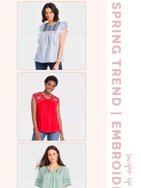 Spring Trend Alert! Embroidery detail!  #targetrun #targetstyle #bestoftarget @liketoknow.it #liketkit http://liketk.it/3hpnL