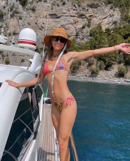 Bikini & Bucket hat for boat day 🌊  #LTKeurope #LTKtravel #LTKswim