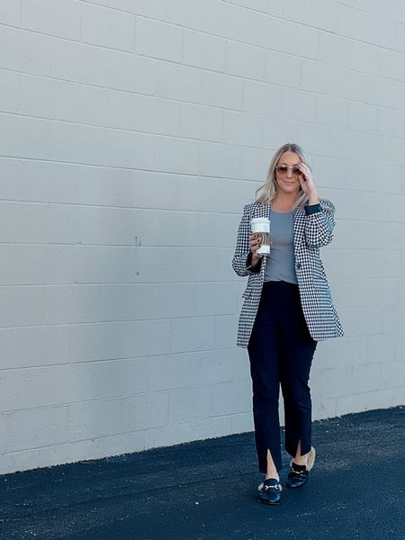Fall outfit Blazer Shacket  Holiday outfit  Thanksgiving outfit  Work wear   #LTKHoliday #LTKSeasonal