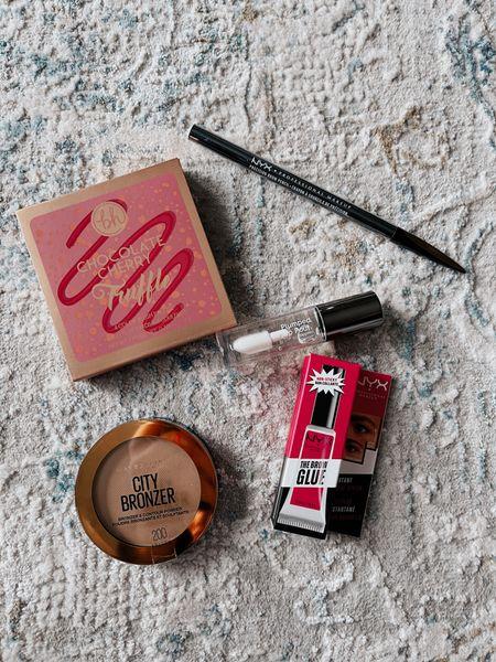 NYX brow glue | makeup | drugstore makeup | maybelline | bronzer | Ulta | plumping lip gloss | brow pencil | blush | BH cosmetics |   #LTKVDay #StayHomeWithLTK #LTKbeauty