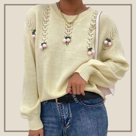 Pom pom detail sweater  #LTKunder50 #LTKunder100 #LTKstyletip