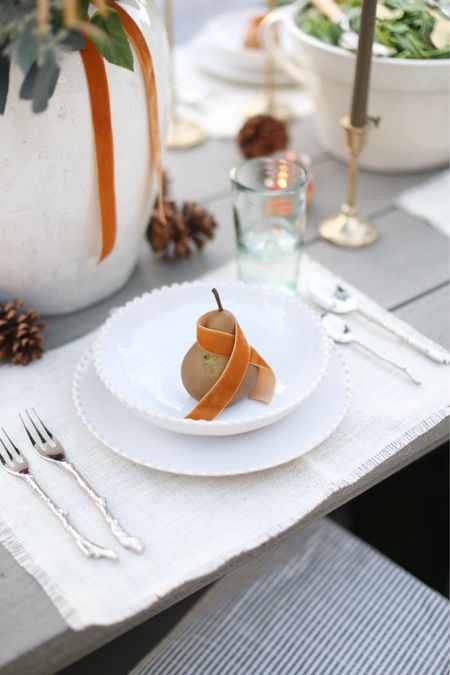 The temps are perfect for outdoor dining here on Phx.  Loving this set from Arhaus!  #entertaining #outdoor #dining #dinner #fall #thanksgiving  #LTKhome #LTKstyletip #LTKSeasonal