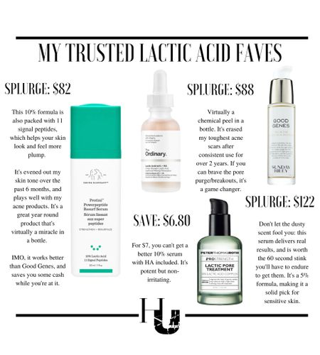WHAT'S THE TEA ON LACTIC ACID? Here's exactly what you need to know...  Part of the AHA family, this acid helps shake your dead skin cells, and reveal brighter, smoother skin...it also has a property that most other acids do NOT...swipe through to find out: it's KEY for sensitive/dry skin peeps.  It can also help reduce fine lines and even deep wrinkles, depending on the % level of the formula being used...swipe through to see what level you need to hit the deeper layers of skin and unlock these benefits!  Whats YOUR favorite lactic acid formula? Let me know in the comments below! I've linked all my favorites on this post, head to the @shop.LTK link in bio to shop them directly.   #LTKunder50 #LTKunder100 #LTKbeauty