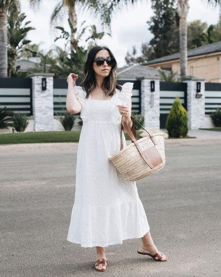 White dresses & straw totes 🤍 http://liketk.it/3hUjC @liketoknow.it #liketkit #LTKstyletip #LTKitbag