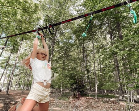 ☀️ G I V E  A W A Y ☀️  The girls are swinging into summer on their new Ninjaline from @slackersadventures! Dave and I got this hung up last weekend, and it's been nonstop fun - and best of all? The kids are running all their energy out 😏 it's a win-win!   And speaking of winning — we are teaming up with @slackersadventures to give 1 lucky winner their very own Ninjaline Intro Kit! (The same kit we have, and you can shop for more attachments. We may add one of the Slackers Rope Ladders to ours!)  Here's how to enter: - make sure you're following @heyitsjenna and @slackersadventures - Like this post ❤️ - Tag a friend in the comments (each tag is a new entry, so tag a few friends for a better chance to win!) And that's it!   This closes on Sunday, and a winner will be announced shortly after! Must be 18+ and live in the US to enter.   Good luck!  @brilliantprm #ninjaline http://liketk.it/3gJWk #liketkit @liketoknow.it #LTKkids