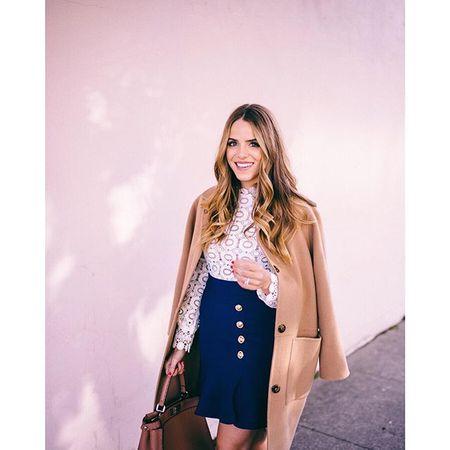 Lace & crepe detailed dress on galmeetsglam.com today @liketoknow.it www.liketk.it/20Pq8 #liketkit #ontheblog #selfportrait #sanfrancisco #lace #dresslover #dressember
