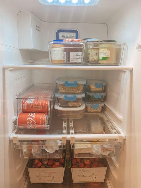 Fridge organization. Organized fridge. Meal planning. Meal plan. Amazon home   #LTKhome #LTKHoliday #LTKSeasonal