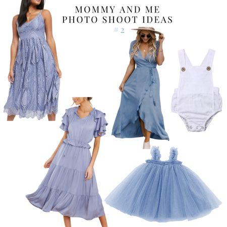 Mommy and me photo ideas- periwinkle    #LTKfamily #LTKSeasonal #LTKbaby