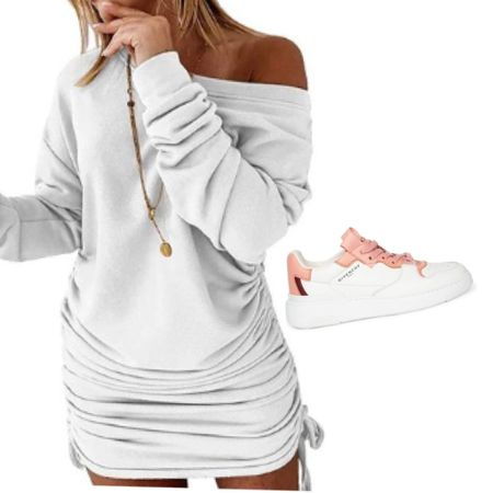 Such a cute casual look with this white dress (Amazon find) and Givenchy sneakers. 👟  Download the LIKEtoKNOW.it shopping app to shop this pic via screenshot   http://liketk.it/38UBc    #liketkit @liketoknow.it #LTKstyletip #LTKshoecrush #LTKcurves #amazonfind #amazonfashion #givenchy #whitedress