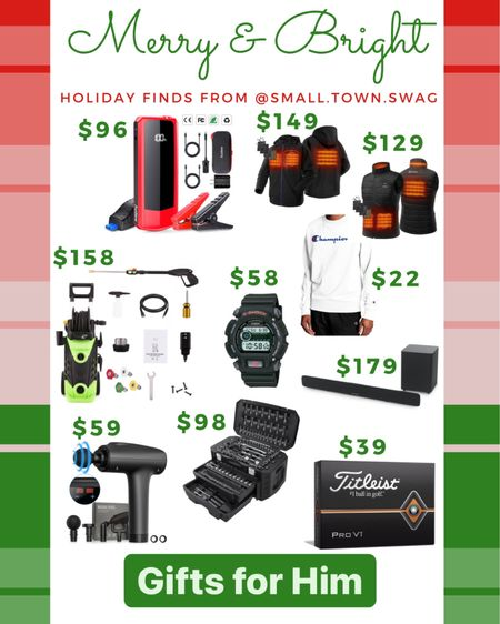 Holiday gift guide for Men — Cyber Monday deals on Walmart! . . . . . . . Gifts for him // men's gift guide // gift guide // gift guides // mens gift guide // Walmart deals // Walmart finds // tools // power tools // power washer // holiday gift guide // Christmas gift guide // men // males // male // gift ideas for guys // handheld massager // iRobot vaccum // sweeper // sound bar // sub woofer // car jumper cables // tool box // tool set // champion // sweatshirt // golf // golf balls // g-shock // gshock // watch // watches // Pro V1 // heated vest // heated jacket // jacket // vest // tools // tool box // tool set // tool // jumper cables // titleist // surround sound — #liketkit #LTKgiftspo #LTKmens #LTKsalealert @liketoknow.it @liketoknow.it.home @liketoknow.it.family Download the LIKEtoKNOW.it shopping app to shop this pic via screenshot — http://liketk.it/32LGT
