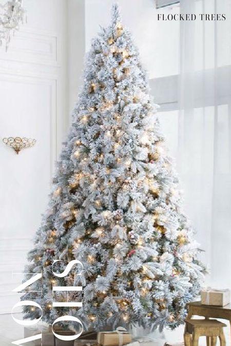 Flocked Christmas tree, pre lit Christmas tree, pre lit Christmas tree, best Xmas tree   #LTKHoliday #LTKhome