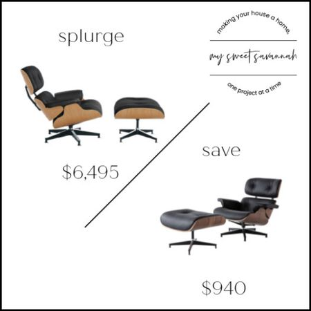 I've always wanted an eames chair snd if you have too, this may be your chance to save big!  Design within reach vs. wayfair for this splurge vs save!   #LTKsalealert #LTKhome #LTKstyletip