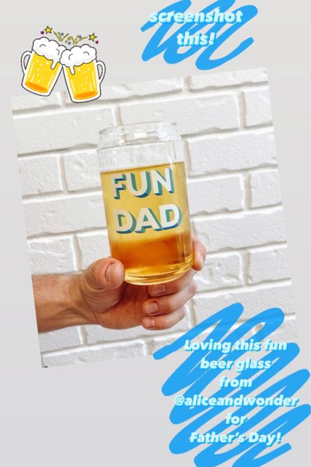 Father's Day, Father's Day gift, gift for him, fun Father's Day gift, beer glass, beer glasses, shop small  @liketoknow.it http://liketk.it/3hf0E  #liketkit   #LTKhome #LTKmens #LTKunder50