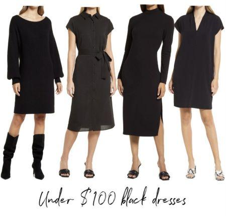 Under $100 Fall Dress, Black Dress, Nordstrom Fall Dress, Nordstrom Fall Outfit, #LTKunder100 #LTKSeasonal  http://liketk.it/3oef2 @liketoknow.it #liketkit