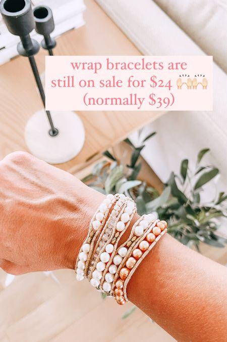 Victoria Emerson wrap bracelets are still on sale for $24 each. (They're normally $39) linking up several here!   #LTKunder50 #LTKsalealert #LTKstyletip