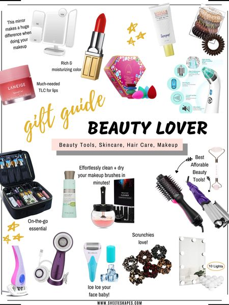 Gift guide for the beauty lover - skincare, makeup, hair care and beauty tools. These beauty essentials and beauty must-haves are affordable and useful! #beautygifts #giftguide #beautyessentials #beautytools #beautyproducts http://liketk.it/2H4sl #liketkit @liketoknow.it #LTKholidaygiftguide #LTKbeauty #LTKsalealert @liketoknow.it.family @liketoknow.it.home Follow me on the LIKEtoKNOW.it shopping app to get the product details for this look and others
