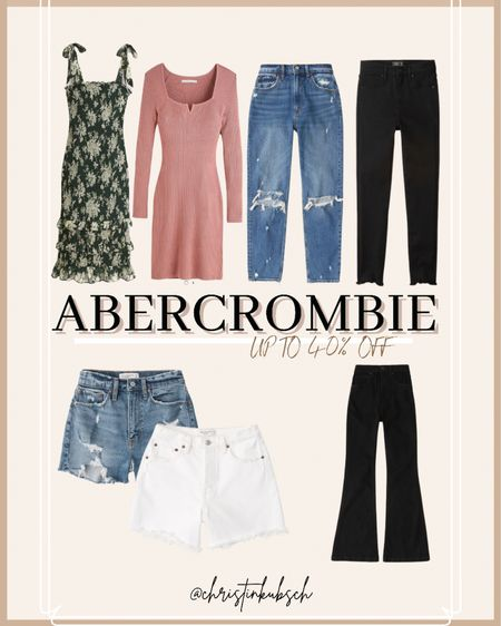 Abercrombie sale up to 40% off  Dress Jeans Denim Shorts Dad shorts High rise  mom shorts Skinny jeans Flare Black denim   #LTKunder100 #LTKcurves #LTKsalealert
