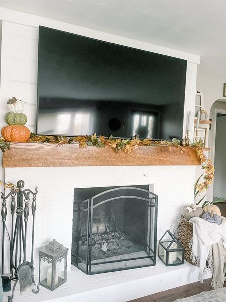 Fall decor, fall living room decor, home decor, mantle decor   #LTKhome #LTKSeasonal