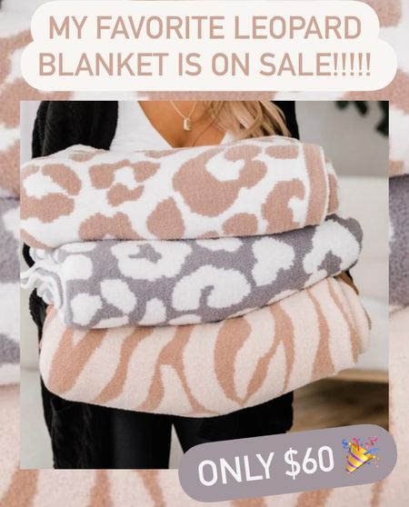 My FAVORITE blanket is on sale for only $60!!! 🎉 and you can use my code BLONDEBELLE to save 20% off on top of that 🙌🏻 these would make the perfect Christmas gift 🎁 . . . Blanket, leopard blanket, gift guide, gift guide for her, Christmas gifts   #LTKGiftGuide #LTKHoliday #LTKsalealert