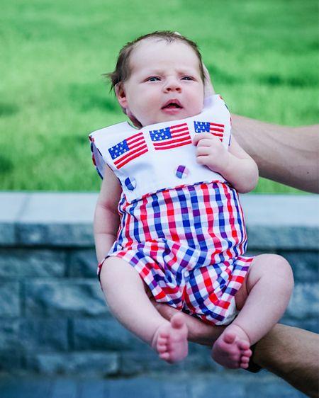 Sweet smocked Fourth of July outfit for baby boy   #LTKkids #LTKbaby #LTKSeasonal