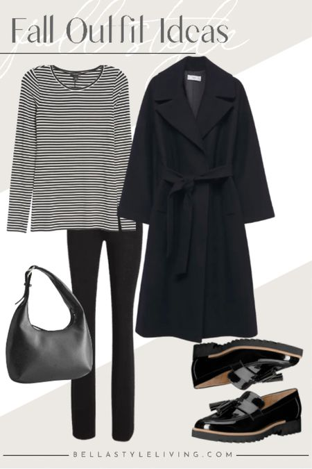 Paris chic with this monochrome outfit and gorgeous patent leather loafers   #LTKstyletip #LTKshoecrush #LTKSeasonal