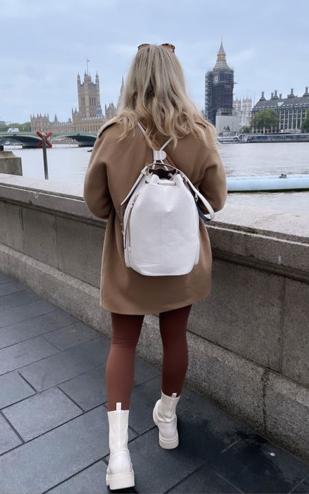 White leather backpack - cream leather backpack - leather bag - allsaints leather - all saints leather - luxury bag - back pack - leather boots - hiking boots - white boots - autumn boots - fall boots - burberry jacket - burberry coat - burberry cape - burberry trench - autumn style - autumn fashion - fall fashion - brown pants - GymShark pants - gym shark leggings - GymShark leggings - GymShark seamless - yoga leggings - gym shark seamless - yoga pants - winter boots - lace up boots - white lace up chunky boots   #LTKGiftGuide #LTKHoliday #LTKitbag