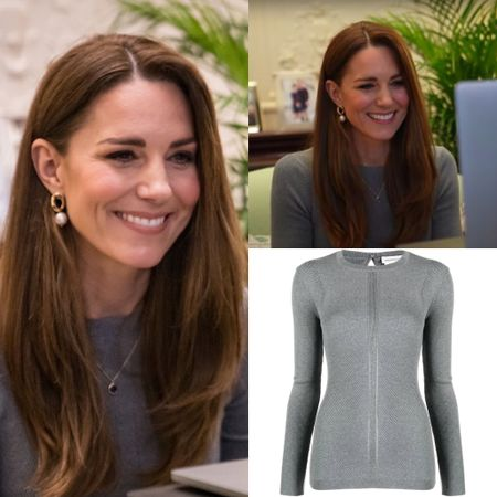 Kate wearing McQueen ribbed top #fall #home #holiday #longsleeve   #LTKstyletip