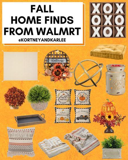 Fall Home Finds from Walmart!  Walmart home decor | walmart decor | walmart home finds | walmart home favorites | Walmart home decor favorites | new Walmart home decor | Walmart fall home decor | fall home decor | fall home decor from Walmart | Kortney and Karlee | #Kortneyandkarlee @liketoknow.it #liketkit   #LTKunder50 #LTKunder100 #LTKsalealert #LTKstyletip #LTKSeasonal #LTKhome