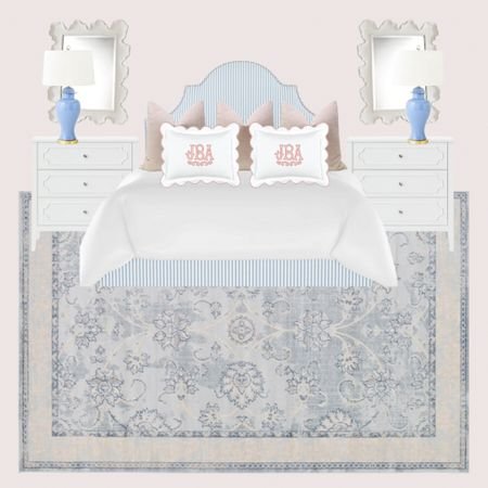 A little girls bedroom with tones or blush pink and French blue!   #LTKkids #LTKhome