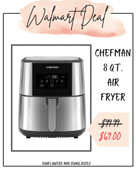 Walmart Deal Days - Air Fryer  #LTKhome #LTKsalealert #LTKunder100