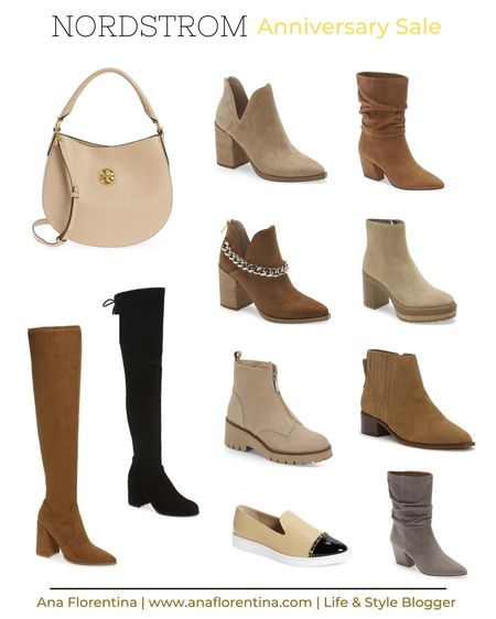 Nordstrom Sale, tall boots, camel booties, brown booties, over the knee boots, otk boots, NSale, tory burch bag, black boots, slouch boot, timberland boot,   #LTKsalealert #LTKshoecrush #LTKunder100