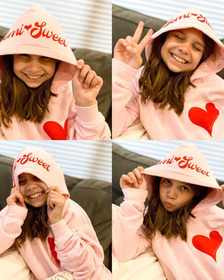 @liketoknow.it.family http://liketk.it/2QPQn #liketkit @liketoknow.it Follow me on the LIKEtoKNOW.it shopping app to get the product details for this look and others #LTKfamily #LTKkids #LTKunder100 #tween #hoodie #pinkhoodie #abigaildrapergirl