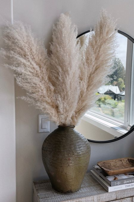 The best pampas grass! Tip: spray with hairspray once fluffed to minimize shedding.  #LTKhome #LTKunder100