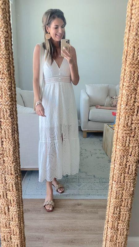 My favorite Amazon white dress!  Wearing xs.  The sandals fit true to size.  @liketoknow.it #liketkit http://liketk.it/3hyy3 #LTKsalealert #LTKunder50 #LTKshoecrush