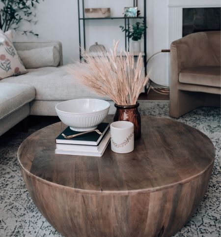 Wooden coffee table, drum coffee table, coffee table decor   #LTKhome