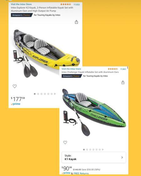 Inflatable Kayaks as seen on my stories 🛶 http://liketk.it/3b4PQ #liketkit @liketoknow.it