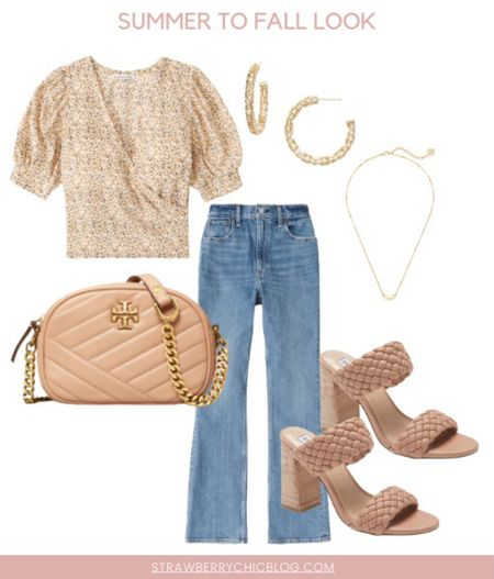 Summer to fall look- pair your summer tops with jeans and cute heels   #LTKshoecrush #LTKSeasonal #LTKstyletip