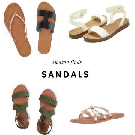 Amazon summer finds, favorite sandal styles.   #LTKunder50 #LTKSpringSale #LTKSeasonal