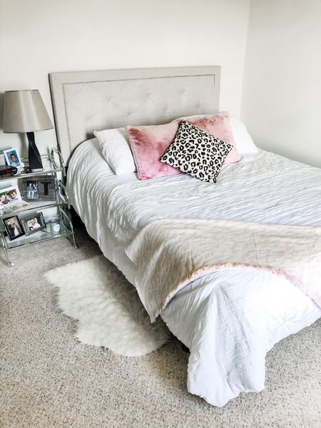 Home Decor These faux rabbit fur throw pillows are the softest things I've ever felt. And this leopard print pillow cover is amazing quality at a super affordable price.  #StayHomeWithLTK #LTKunder50 #LTKhome