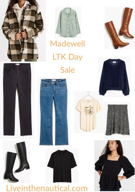 SALE ALERT!  It is LTK Day and Madewell is having 25% off when you shop in app! Rounding up some of my favorite fall finds like these amazing boots!  #LTKDay #LTKsalealert #LTKSale