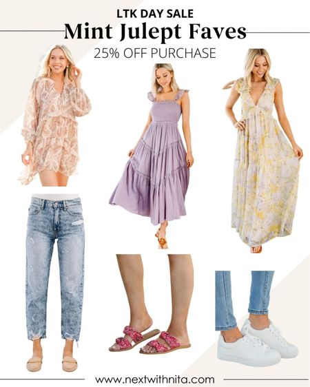 LTK Day sale faves from Mint Julep Boutique on sale for 25% off! Love these summer dresses, sun dresses, distressed jeans, white sneakers, and more for everyday outfits, vacation outfits, travel outfits, summer outfits   #LTKsalealert #LTKtravel #LTKSeasonal