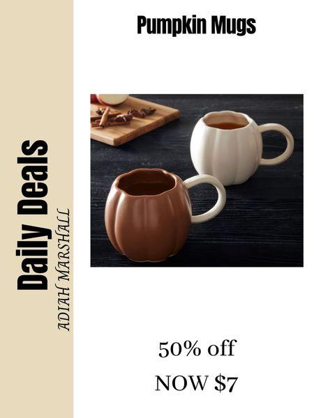 Halloween Pumpkin Mugs 50% off NOW $7  #LTKSeasonal #LTKHoliday #LTKsalealert