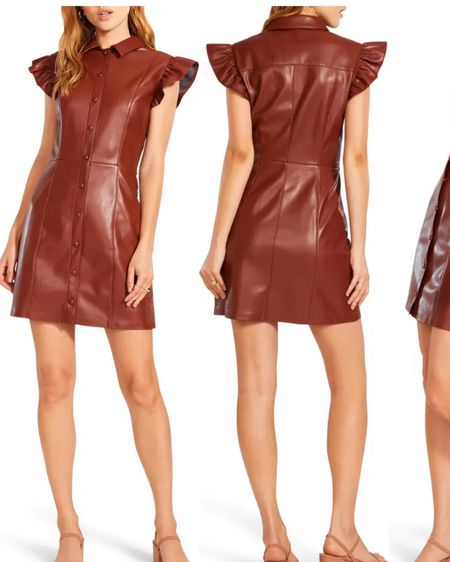 Nordstrom Anniversary Sale Faux Leather Dress #liketkit @liketoknow.it #LTKunder100 #LTKunder50 #LTKstyletip  http://liketk.it/3jtFS