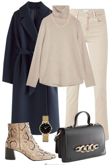 Neutrals mixed with navy, black and a snake print | winter outfit | ootd | outfit inspi http://liketk.it/35kni @liketoknow.it #liketkit #LTKstyletip #LTKunder100 #LTKeurope