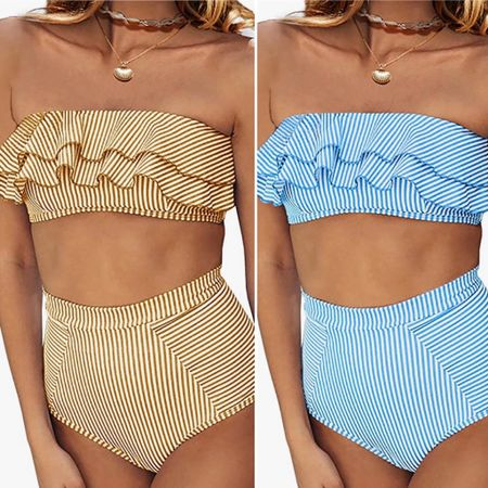 Ruffles and striped bikini- so cute   You can instantly shop all of my looks by following me on the LIKEtoKNOW.it shopping app http://liketk.it/3hRZS #liketkit @liketoknow.it #bikini #seersuckerswim #summer2021 #rufflebikini #amazon #amazonswim #pool #poolstyle #beachvacation #sumemrvacation #resortstyle #stripedbikini
