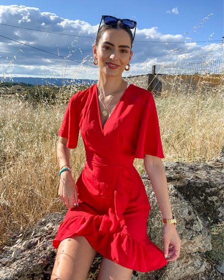 Red wrap dress ❤️   #LTKstyletip #LTKeurope
