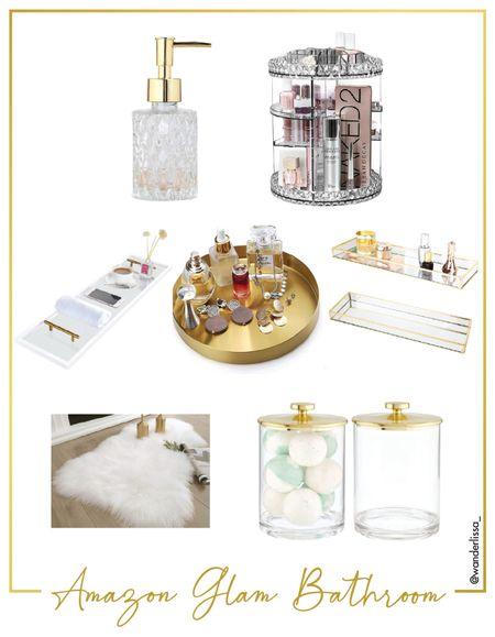 Amazon glam bathroom decor finds! ✨  #LTKhome #LTKunder50 #LTKunder100