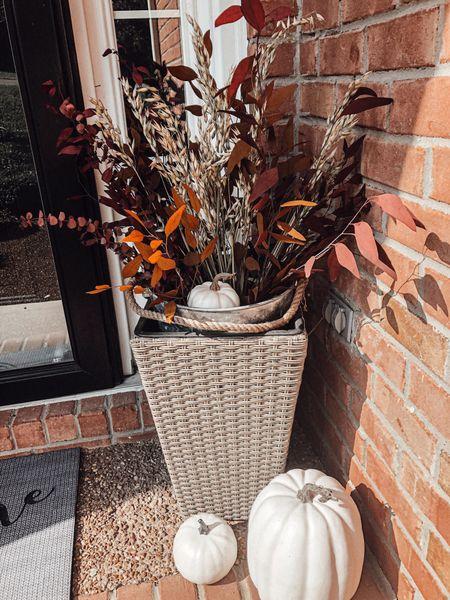 #fall #outdoor #decor (I got my exact stems from Hobby Lobby- linking similar!)   #LTKHoliday #LTKhome #LTKSeasonal